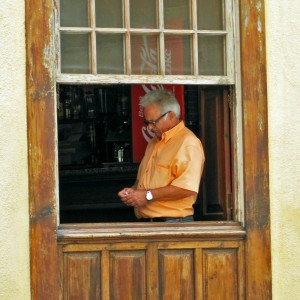 Man in raam Barlovento, La Palma