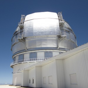 Observatory with telescope at Roque de La Muchacha in La Palma