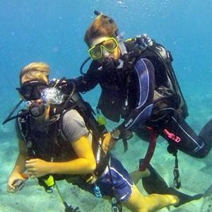 Diving together on La Palma
