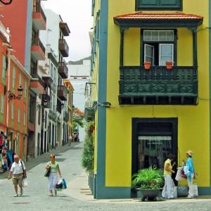 Winkelstraat van Santa Cruz de la Palma