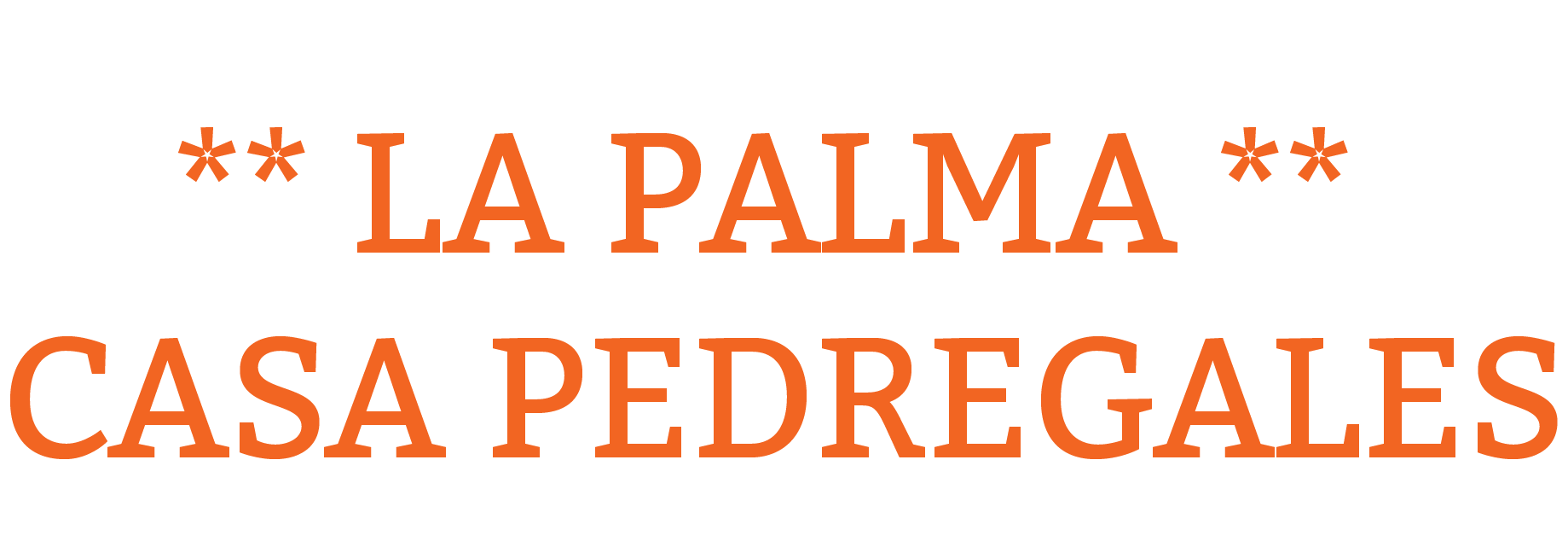 La Palma Vakantiehuis - Ferienhaus - Holiday Cottage